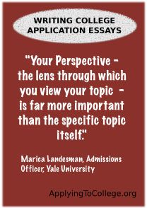 College application essay pointers