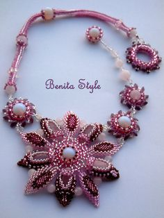 Necklace Moon Flower SOLD by BenitaStyleBG on Etsy, $100.00