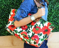 | denim and floral |