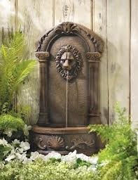 outdoor wall fountainsComes complete with a finger light for soft, illuminated water.http://www.fountaincellar.com/