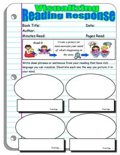 Reading Response Forms and Graphic Organizers | Visualizing
