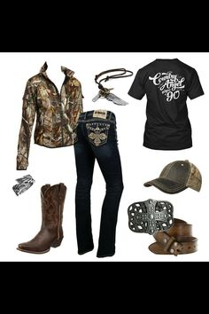 Camo jacket and jeans Country Girl Outfits, Country Wear, Country Girl Style, Country Fashion, Country Girls, Country Life, Southern Outfits, Southern Style, Camo Outfits