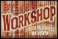 Click to find out more about Rustic Personalized Workshop Vintage Sign