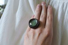 tiny moss ringsmall terrarium ringnatural ringgreen by ZokaKurylov