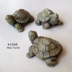 Mini Turtle by The Brookfield Co.. $16.00. artist signature cast in each turtle. cast in resin for detail and durability. Made in U.S.  small scale for miniature gardens. hand finished in beautiful, natural colors. Mini Critters are all original designs by Brookfield artist, Hilda Jones. Their interesting gestures and small scale makes them perfect for use in vignettes and miniature gardens.
