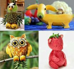 i want to be a fruit sculpturer