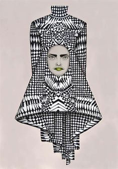 Fragmented Fashion Illustrations : becha elle openers