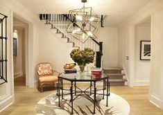 Sculptural chandelier and table