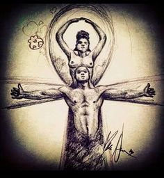 Knowledge Is Power — Ankh symbol Woman: the womb Man : the. Black Love Art, My Black Is Beautiful, Black Man, African History, African Art, Black Art Pictures, Art Africain, Afro Art, Dope Art