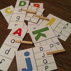 French alphabet – 2 jeux d'association – Ensemble – Bundle Alphabet Activities Kindergarten, Alphabet Games, Preschool Literacy, Letter Activities, Learning The Alphabet, Preschool Lessons, Montessori Activities, Educational Activities, Learning Activities