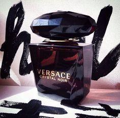 perfume, Versace, and crystal noir image