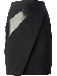 Saint Laurent - lambskin panel pencil skirt