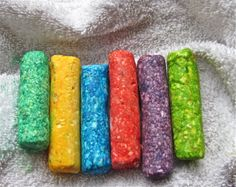 Make your own bath crayons with soap (I choose Dove) and food coloring! :)