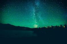 Milky Way over Otto lake, Alaska