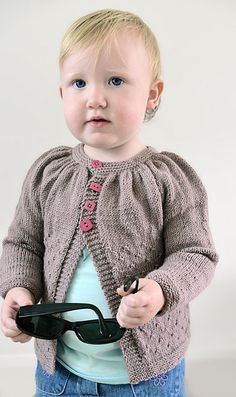 Knitting pattern for Lil Tamzin  Cardigan - #ad Sweater in child and baby sizes featuring stockinette yoke and textured body. Ages 3, 6, 9, 12 and 18 months and 2, 4, 6, 8-10 and 12 years. More pics on Etsy. tba