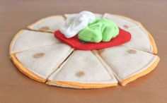 Felt Food  Play Food Quesadilla by BeesFeltMarket on Etsy, $10.00