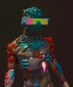 #oculus #medium #3D #sculpt #sculpting #model #modelling #vr #virtual #reality #rift  #cyborg  #robot #art #numerique #digital #concept