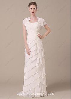 00150ad0c085  129.99  Stunning Chiffon Sweetheart Neckline Sheath Mother of The Bride  Dresses