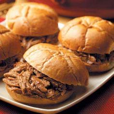 Slow cooked barbecue pork