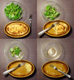 On my sixth day of cooking alone I tried thomething new. And french. And it was AWSOME!!! French food with a slightly changed recipey Gratin dauphinois (potato bake) and salad mache with mustard-orange-dressing.