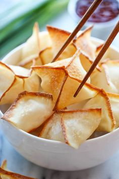 Baked Cream Cheese Wontons with Shrimp - No one would ever believe that these crisp, creamy wontons are actually baked, not fried! And they're so easy to make!
