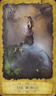Example card from The Mystic Dreamer Tarot  by Barbara Moore. DISCOVER MORE: http://www.tarotacademy.org/mystic-dreamer-tarot/