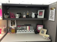 Cubicle Decor diy desk glam! give your cubicle, office, or work space a makeover