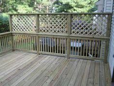 Image result for adding privacy to deck