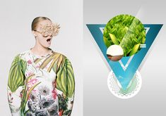 LEFT: Botanical Layers by Masha Reva x SNDCT. Photo by Synchrodogs. Model: Lada Matis. Make-up/Hair by Yuliya Tishchenko. Assistants - Sonya Soltes, Anna Shapovalova. Styling/Idea/Accessories by Masha Reva.  RIGHT: Digital Print, 2010-2012 by András Szőrös. Image via Behance.net  Mood Board Monday is a weekly coast-to-coast visual creative collaboration with Nancy Herrmann.
