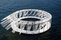海に浮かぶ円形のプライベートプール「Antiroom Ii」