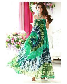 tye dye dress by pinkjungle1986