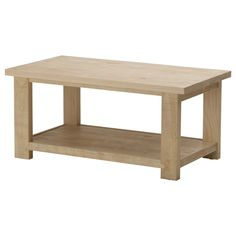 REKARNE Coffee table - IKEA  $149  Add a nice stain and this would be perfect!