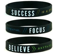 Success Focus  Believe Motivational Silicone Wristbands 6pack  Unisex Adult Size for Men Women -- Click image to review more details. Note: It's an affiliate link to Amazon