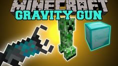 Minecraft: GRAVITY GUN (PICK UP AND THROW MOBS AND BLOCKS!) Mod Showcase