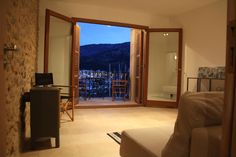 View from the couch. Living room Casita Sal de Mar, Port de Soller. www.sollersecrets.com