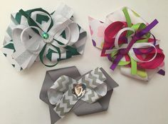 Custom School Bows http://www.rosiecouturecollection.net/kids/custom-school-bows