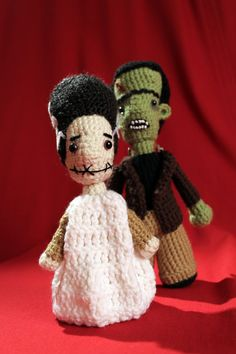Frankenstein's Monster and Bride of Frankenstein Stuffies