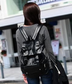 Black leather back pack for the win!