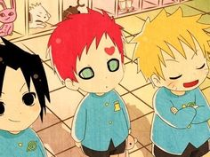 aww gaara is the cutest thing ever <: #naruto #chibi