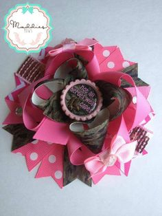 Army hair bow  Come like my page:https://www.facebook.com/pages/Maddies-Bows/335701046513858