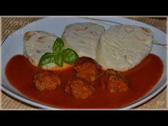 Kuličky z mletého masa v rajské omáčce - VAŘÍME DOMA #Andrea - YouTube New Recipes, Meat, Chicken, Food, Youtube, Koken, Meals, Youtubers, Youtube Movies
