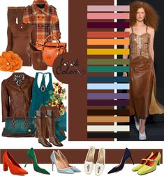 модные цвета весна лето 2018 Colour Combinations Fashion, Color Combinations For Clothes, Color Combos, Brown Pants Outfit, Teal Pants, Colourful Outfits, Colorful Fashion, Smart Casual Women, Modelos Fashion