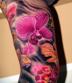 6a41140045786 43 best Realistic Orchid Tattoos images in 2017 | Orchids, Flowers ...
