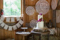 A Rustic, Vintage Wedding at Gloryview Farm in Wasilla, Alaska Meringue Frosting, Swiss Meringue, Wedding Cake Photos, Wedding Cakes, Winter Springs, Bride Groom, Alaska, Real Weddings, Rustic