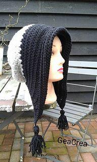 Ravelry: Winter bonnet with tassels pattern by Gea Crea design