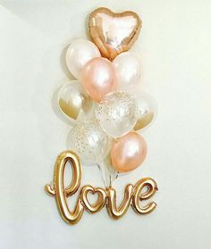 NEW Gold Love Balloons, New Love Balloon, Rose Gold and Peach Latex, Rose Gold Wedding, Rose Gold Bridal Shower Engagement Balloons NEUE Liebesballons aus Gold Neue Liebesballons aus Roségold und Pfirsich Bridal Shower Balloons, Bridal Shower Centerpieces, Gold Bridal Showers, Wedding Balloons, Engagement Balloons, Engagement Party Decorations, Engagement Parties, Bridal Decorations, Love Balloon