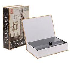 Caja Fuerte Libro Vintage LONDON