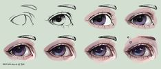one more step by step tutorial, drawn in Sai hope it will help someone ^ ^ inspired by this picture semi-realism eye tutorial lips tutorial anime eye tutorial Eye Drawing Tutorials, Digital Painting Tutorials, Digital Art Tutorial, Art Tutorials, Drawing Sketches, Art Drawings, Drawing Tips, Realistic Eye Drawing, Cartoon Eyes