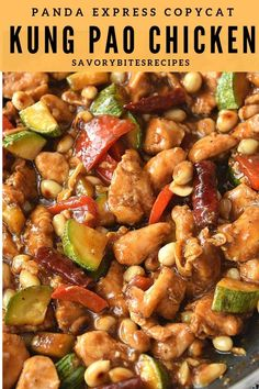 Panda Express Copycat recipe of Kung Pao Chicken! #savorybitesrecipes #kungpaochicken #pandaexpresscopycat #chickenrecipe #dinnerrecipes #chinesefood #betterthantakeout