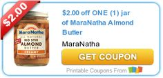 Tri Cities On A Dime: SAVE $2.00 ON 1 JAR OF MARANATHA ALMOND BUTTER